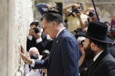 Romney... at the wailing wall..