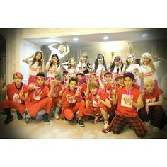 snsd and exo , from @taeyeon_ss instagram