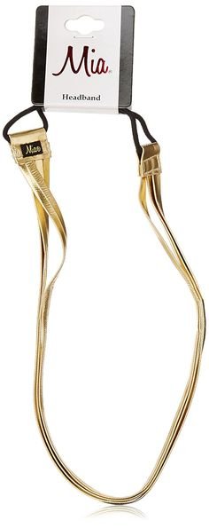 Mia Fashion Headband, Gold Triple Strap * For more information, visit image link.
