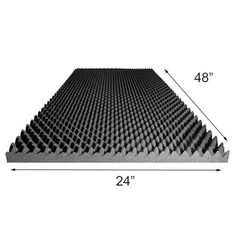 Egg Crate 1-1//2 X 24 X 18 Ul 94 Acoustic Foam Convoluted Upholstery.