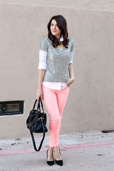 Short-sleeved sequin top over blouse