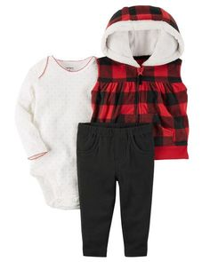 794fe8b6f Display product reviews for 3-Piece Little Vest Set Baby Boy Outfits,  Toddler Outfits. Carter's