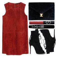 """street style"" by sisaez ❤ liked on Polyvore featuring moda, Zara, Giuseppe Zanotti, NARS Cosmetics, Hermès e TheBalm"
