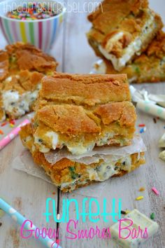 Funfetti Gooey S'mores Bars -- these are the EPITOME of gooey!