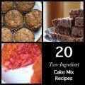 20 Two-Ingredient Cake Mix Recipes