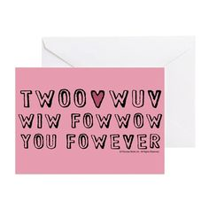 Twoo Wuv Greeting Card on CafePress.com