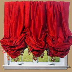 Silk Balloon Shade traditional roman blinds