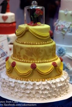 The flower is showing Beast how much time he has left before he is cursed forever. Belle is the one who is able to break the spell, making it an incredible love story to show off on a wedding cake.