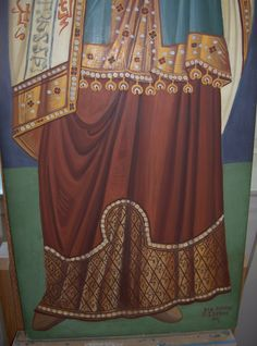 (detail) Prophet Melchizedek, Byzantine Greek Macedonian School of Emmanouil Panselinos, original mural painting in Mount Athos, Greece Religious Icons, Religious Art, Icon Clothing, Painting Courses, Best Icons, Byzantine Icons, Painted Clothes, Painting Process, Orthodox Icons