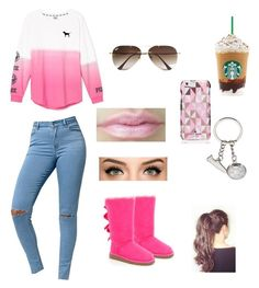 """""""Classic Starbucks Outfits"""" by fashionpolice-123 on Polyvore featuring Victoria's Secret, Bullhead Denim Co., UGG Australia, Kate Spade, Ray-Ban, women's clothing, women, female, woman and misses"""