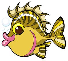 Riktoonz -- Cartoonist/Caricaturist Rick C. Moore: Fish Clip Art