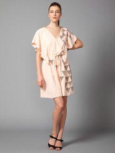 peach silk dress. perfect for warm summer days / evenings.