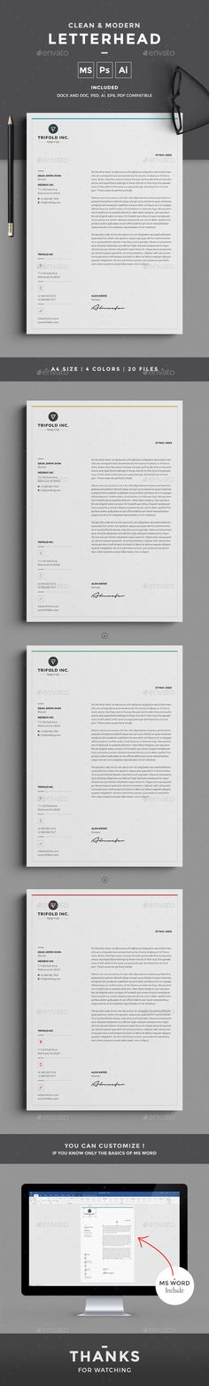 A minimal letterhead for all kind of business and personal purpose usages. This file is easy to edit, modify and customize able. All files are arranged, editable and easy to access.