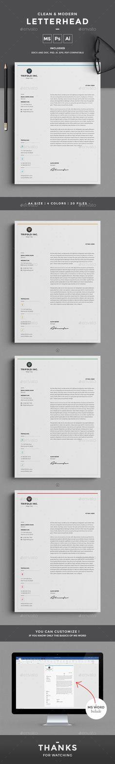 Letterhead Template PSD, Vector EPS, AI, MS Word