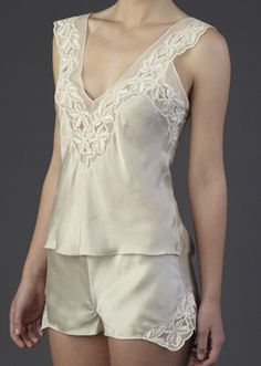 Silk Camisole & Classic Silk French Knickers.