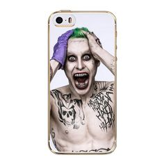 For iPhone 5S Case Suicide Squad Joker Harley Quinn Soft TPU Protactive Case Cover for iPhone 5 / 5S / SE