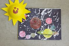 Reading Confetti: U is for Universe - great crafts about the solar system Fall Preschool, Preschool Letters, Preschool Crafts, Daycare Crafts, Preschool Ideas, Letter U Crafts, Alphabet Crafts, Letter Art, Fun Crafts For Kids