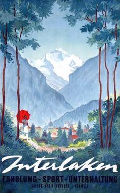 Alex Walter Diggelmann (Swiss, 1902-1987), Interlaken poster
