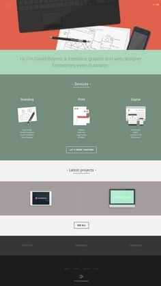 David Boyero Clean responsive & flat design for this portfolio. http://davidboyero.com/en/ ui design gui web design responsive