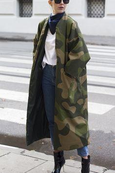 Camouflage Fashion, Camo Fashion, Military Fashion, Look Fashion, Timeless Fashion, Winter Fashion, Fashion Outfits, Military Vest, Fashion Photo