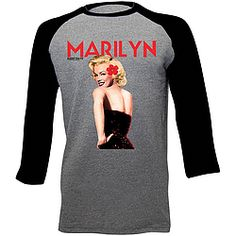 Casual and sporty T-shirt with 3/4 length raglan sleeves features a classic pin-up style.