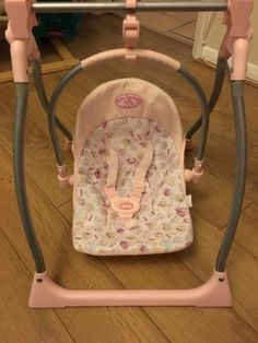 Baby Annabell 3 In 1 Highchair Swing Seat Car Seat Doll Baby Doll Car Seat, Baby Doll Play, Real Baby Dolls, Baby Doll Nursery, Pink Bowls, Baby Doll Accessories, Dolls Prams, Swing Seat, Bouncers