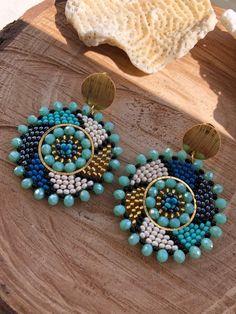 Beaded Earrings Native, Bead Earrings, Seed Bead Jewelry, Seed Bead Bracelets, Earring Tutorial, Beaded Jewelry Patterns, Loom Beading, Polymer Clay Earrings, Bead Art