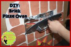 DIY Brick Pizza Oven. Great for dramatic play!