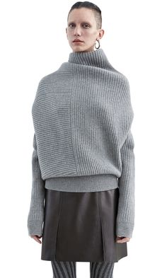Acne Studios Jacy rib grey melange Ribbed sweater