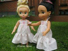 summer dresses with a crochet miniature flower