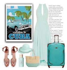 """""""Cuba Vacation"""" by conch-lady ❤ liked on Polyvore featuring Benefit, RED Valentino, Ellen Tracy, Target, Packandgo, cuba and packandgotocuba"""