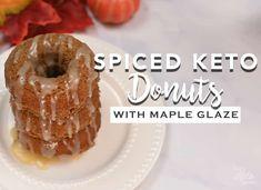 Baking With Coconut Flour, Baking Flour, Almond Flour, Maple Donuts, Keto Snacks, Keto Desserts, Keto Donuts, Maple Glaze, Coconut Cream