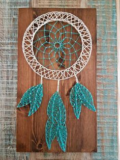 Articles similar to Dream Catcher String Art on Etsy - Trau .- Items similar to Dream Catcher String Art on Etsy – Dream Catcher String Art – Crafts To Do, Wood Crafts, Arts And Crafts, Diy Crafts, Resin Crafts, Wood Board Crafts, Decor Crafts, String Art Diy, String Crafts
