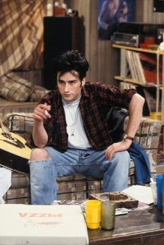 "Glenn Quinn joined ""Roseanne"" during its third season, playing Mark Healy, a biker and ""rebel-without-a-cause"" type character who dates and later elopes with Becky."