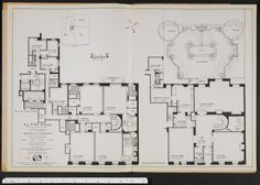 834 Fifth Avenue, 834 Fifth Avenue - Columbia Digital Library Collections New York Apartments, Luxury Apartments, New York Townhouse, Manhattan City, Apartment Floor Plans, City Living, Pent House, Plan Design, House Plans