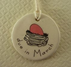 Expecting Moms Ceramic Necklace Pendant with by aphroditescanvas, $14.00