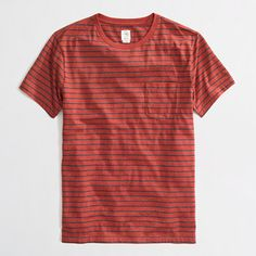 slim heathered pocket tee in stripe