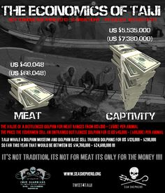 """It's not tradition, it's not for meat, it's only for the money!!!"" Sea Shepherd #Tweet4Taiji"
