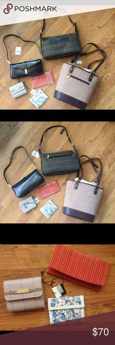 acdbcfad49cc Lot 6 shoulder bags and wallets All new with tags This listing includes all  6 items