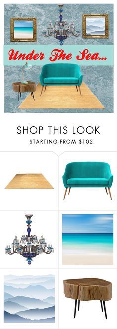 """Elegant Beach House Decor"" by sissifashionista ❤ liked on Polyvore featuring interior, interiors, interior design, home, home decor, interior decorating, Saint-Louis Crystal, York Wallcoverings, Moe's Home Collection and PBteen"