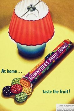 Rowntrees Fruit Gums Advert from the 1950's