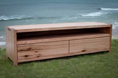 Tasmanian Oak and Messmate TV Cabinet Simple with clever joins.
