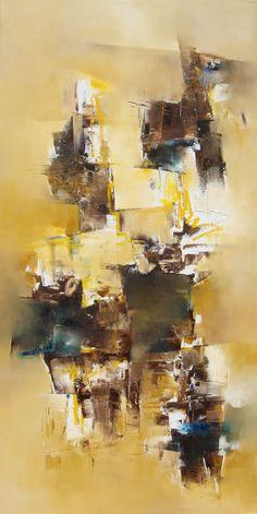 """""""Carabelas de la nada"""" - Nicolas Federici - Técnica mixta - 100 x 40 cm www.esencialismo.com"""