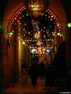 Ramadan lights in the the Old City, Palestine.
