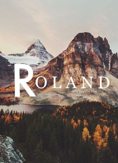 Roland, Meaning: famous throughout the land, German names, R names, boy names, names that start with R, ttc, male names, unique boy names, R names, boho baby, unique baby names, strong names, baby names, pregnant, pregnancy