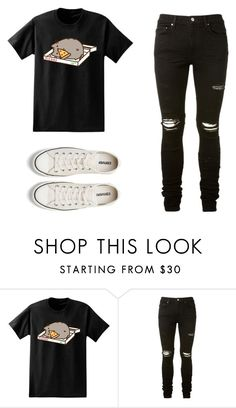 """Untitled #173"" by muke-03 ❤ liked on Polyvore featuring Pusheen, AMIRI and Converse"