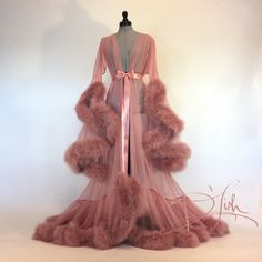 "Boudoir by D'Lish — Vintage Rose ""Cassandra"" Dressing Gown"