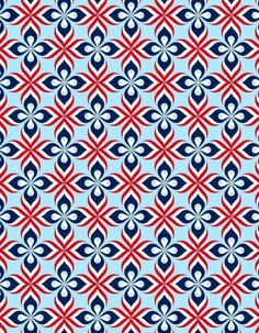 usa-fashion-fever:   Fancy Red White and Blue Jigsaw Puzzles