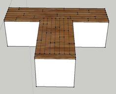 How to Build a Wood Floor Countertop – Sawdust Girl® – Outdoor Ideas Outdoor Kitchen Countertops, Concrete Countertops, Granite, Painted Countertops, Kitchen Counters, Kitchen Islands, Kitchen Cabinets, Cheap Hardwood Floors, Engineered Hardwood