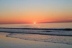 Hilton Head Island, South Carolina - pink skies at the beach.